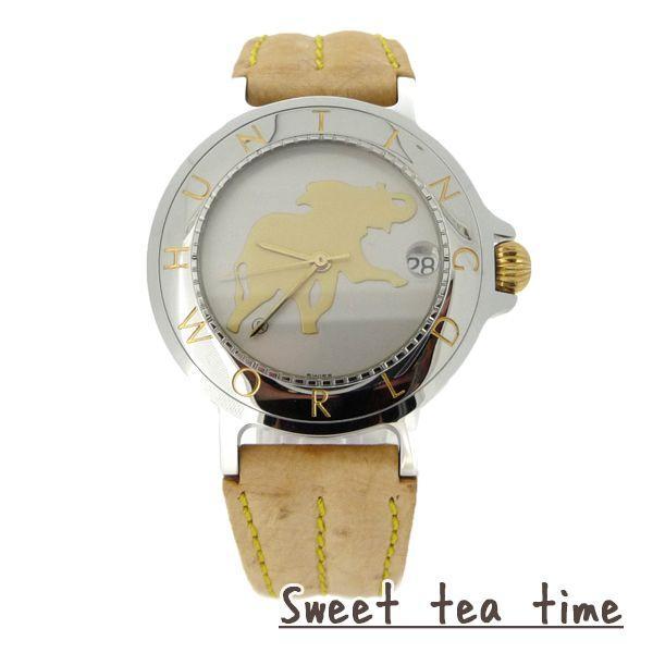 ハンティングワールド腕時計メンズHUNTINGWORLD時計自動巻シルバー文字盤ウオッチHWM-14正規品あすつく対応
