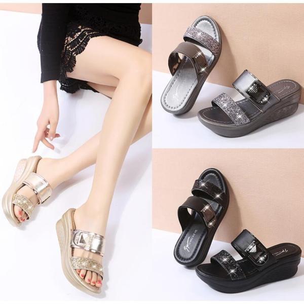 サンダルレディース履きやすい可愛いサンダル歩きやすいおしゃれ疲れない靴シューズ22.5?25.5cm