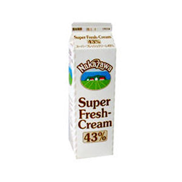 (お取り寄せ商品)中沢乳業 生クリーム スーパーフレッシュクリーム 43% 1000ml 1L(冷蔵)