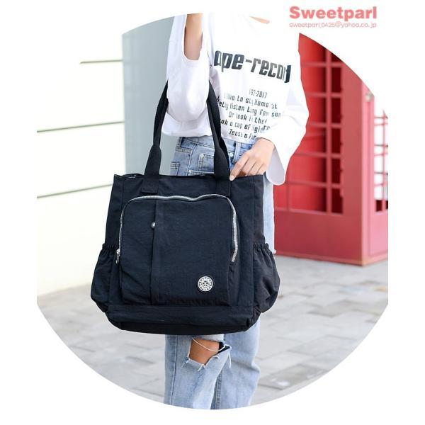 トートバッグ レディース カバン 軽いバッグ ナイロンバッグ 通勤トート ナイロントートバッグ かばん 鞄 大容量 軽量 撥水|sweetparl|21