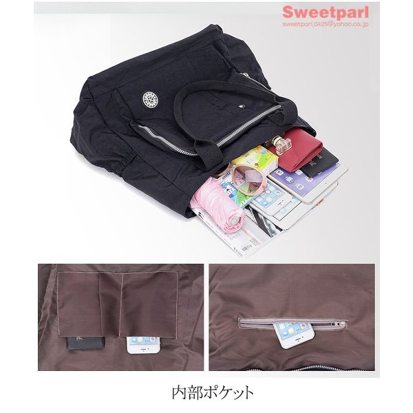 トートバッグ レディース カバン 軽いバッグ ナイロンバッグ 通勤トート ナイロントートバッグ かばん 鞄 大容量 軽量 撥水|sweetparl|07