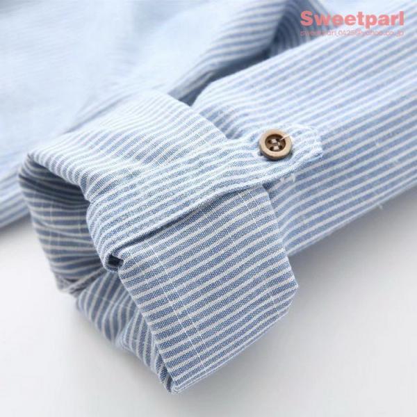 レディース シャツ スタンドカラー ストライプシャツ カジュアルシャツ トップス 長袖 ストライプ柄 ゆったり|sweetparl|11