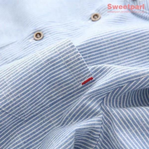 レディース シャツ スタンドカラー ストライプシャツ カジュアルシャツ トップス 長袖 ストライプ柄 ゆったり|sweetparl|10
