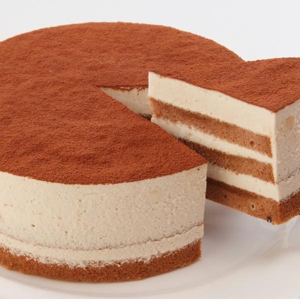 ティラミス12cmホール【冷凍便】 アレルギー対応 米粉ケーキ 【卵・小麦粉・乳製品持込禁止工房】|sweets-moegi