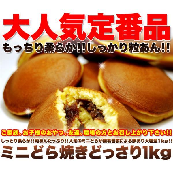 どら焼き ミニ もっちり粒あん 1kg 訳あり 業務用 個包装 お菓子 スイーツ あんこ 常温商品