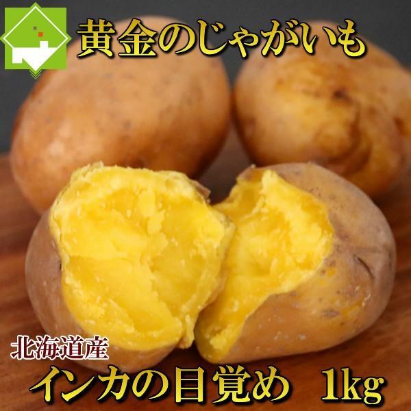 じゃがいも 北海道産 インカのめざめ 1kg (10玉から15玉前後) 送料無料