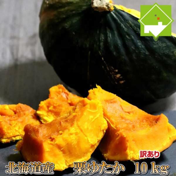 かぼちゃ 北海道ふらの産 訳あり 栗ゆたか 10kg 送料無料 キズ 変色 変形