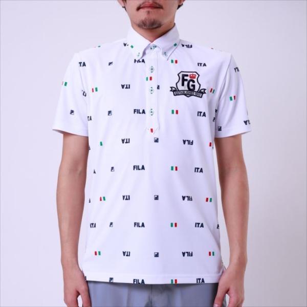 b90aa7fb31289 半袖ポロシャツ FILA GOLF (フィラゴルフ) メンズ 半袖シャツ ホワイト 748616 1905 紳士 ゴルフ