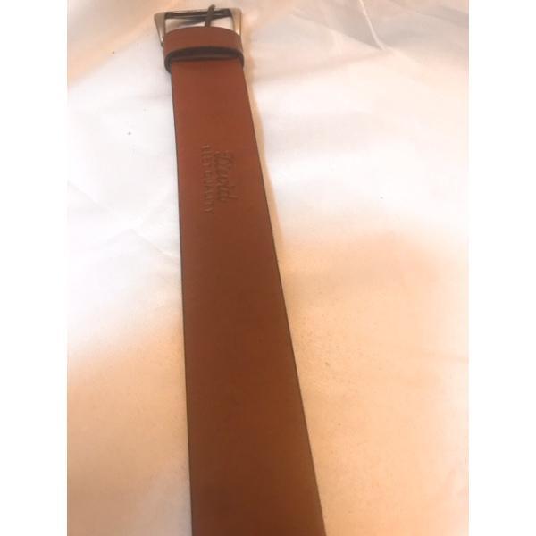 ベルト メンズ 本革製 1枚革 プレーン ロングサイズ ブラウン ウエスト100〜125cm対応 |swingdog|02