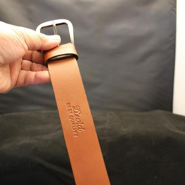 ベルト メンズ 本革製 1枚革 プレーン ロングサイズ ブラウン ウエスト100〜125cm対応 |swingdog|04