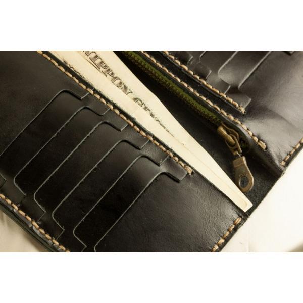 財布 メンズ 本革製 ハンドメイドウォレット 手縫い ビジネス カジュアル兼用使用可能デザイン|swingdog|06