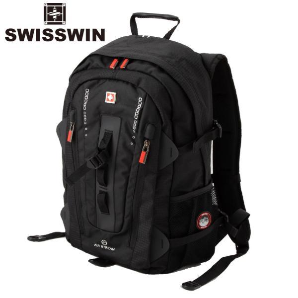 リュックサック リュック バックパック デイパック メンズ レディース 大容量 アウトド 通勤 通学 旅行 遠足 登山 リュック swisswin  SW9972|swisswin