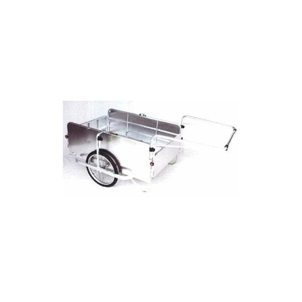 オオシマ アルミハンディキャンパーH-3 J型 4面囲い付(800×1200) エアータイヤ 折り畳み式アルミリヤカー 単品・本州送料無料 (57620239)