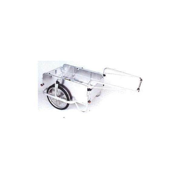 オオシマ アルミハンディキャンパーH-3 4面囲い付  エアータイヤ(600×900) 折り畳み式アルミリヤカー 単品本州送料無料 (57680235)