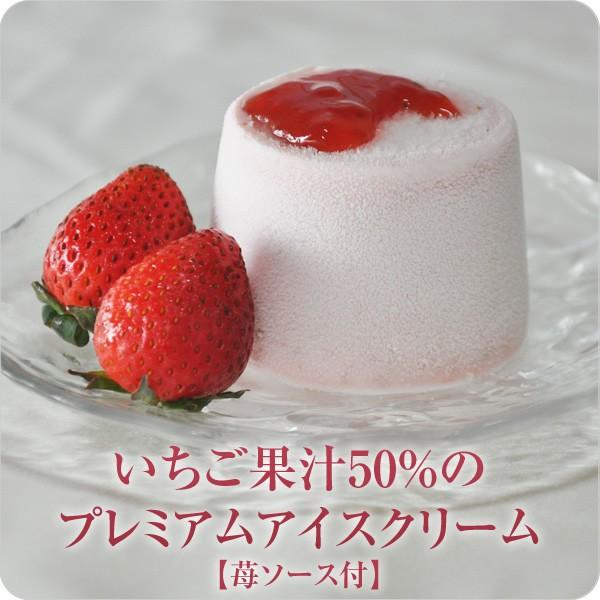 いちご果汁50% いちごアイス アイスクリーム 苺 イチゴ いちご フルーツ (いちご果汁50%のプレミアムアイスクリーム 苺ソース付)
