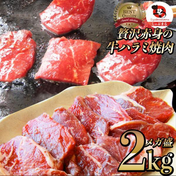 牛肉 肉 食品 ハラミ 焼肉 サガリ 2kg 250g×8P メガ盛り バーベキュー 美味しい お中元 父の日 ギフト 2021 *当日発送対象 送料無料 まとめ買い割引
