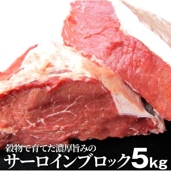 サーロイン ブロック 5kg ステーキ用 赤身 オーストラリア産 プレゼント リッチな 赤身 贅沢 牛肉 送料無料