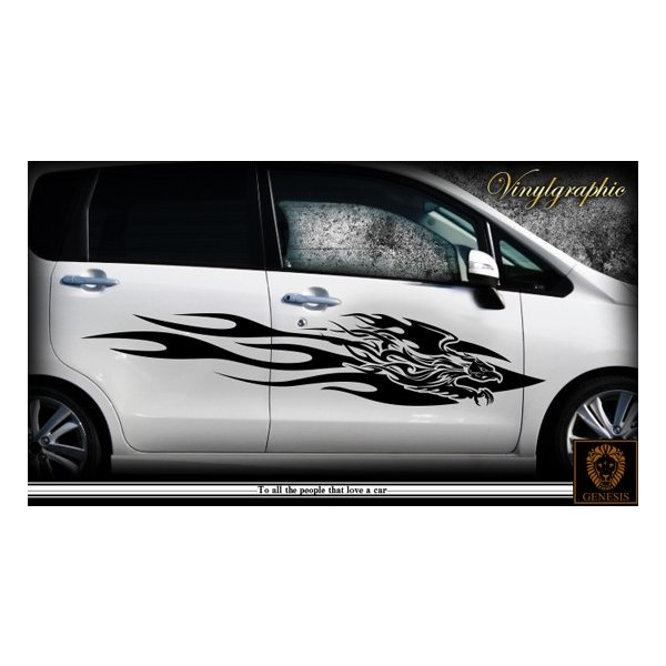 軽自動車にも合う★フェニックスバイナルグラフィック02コンパクトカスタムカーステッカー|syarakugenesis