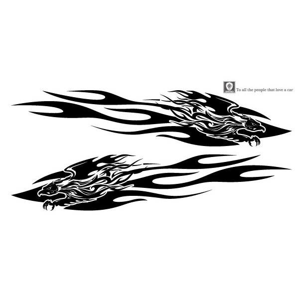 軽自動車にも合う★フェニックスバイナルグラフィック02コンパクトカスタムカーステッカー|syarakugenesis|02