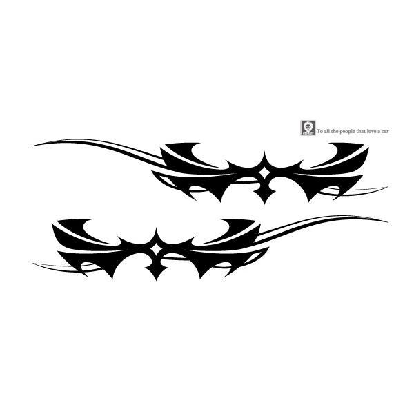 軽自動車にも合う★トライバルバイナルグラフィック04コンパクトカスタムカーステッカー|syarakugenesis|02