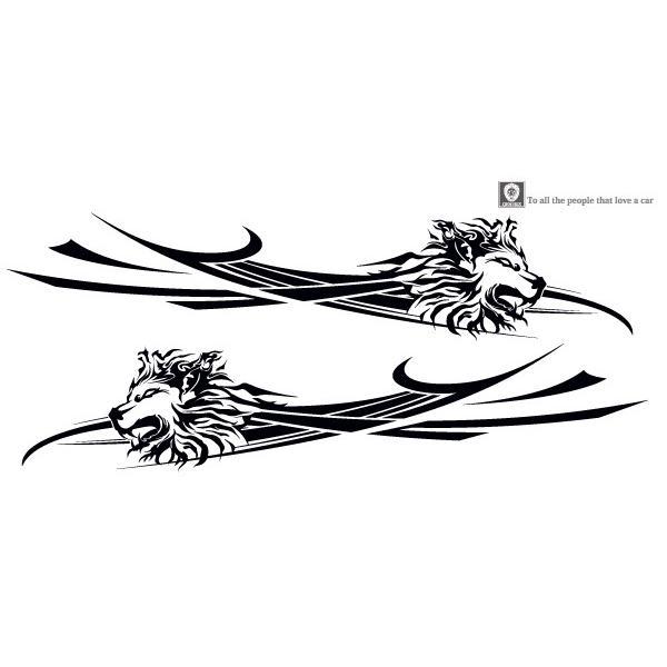 軽自動車にも合う★ライオンバイナルグラフィック07コンパクトカスタムカーステッカー|syarakugenesis|02