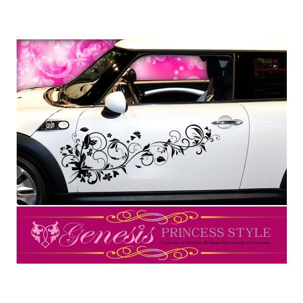 姫系ギャル系かわいいカーカスタムステッカー04☆ドレスアップ車|syarakugenesis
