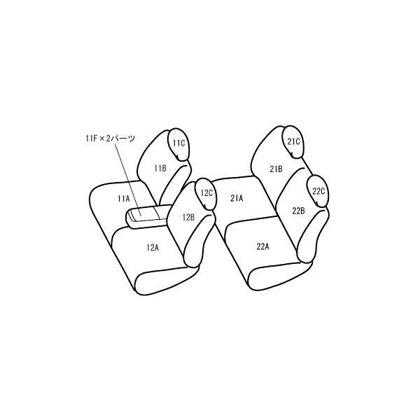 Bellezza/ベレッツァ シートカバー ムーヴキャンバス LA800S/LA810S カジュアル S-LINE ブラック|syarakuin-shop|02