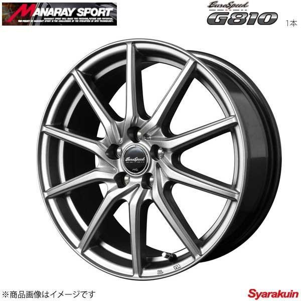 MANARAY SPORT/EuroSpeed G810 アルミホイール 1本 ランディ 26系 【16×6.5J 5-114.3 INSET48 メタリックグレー】