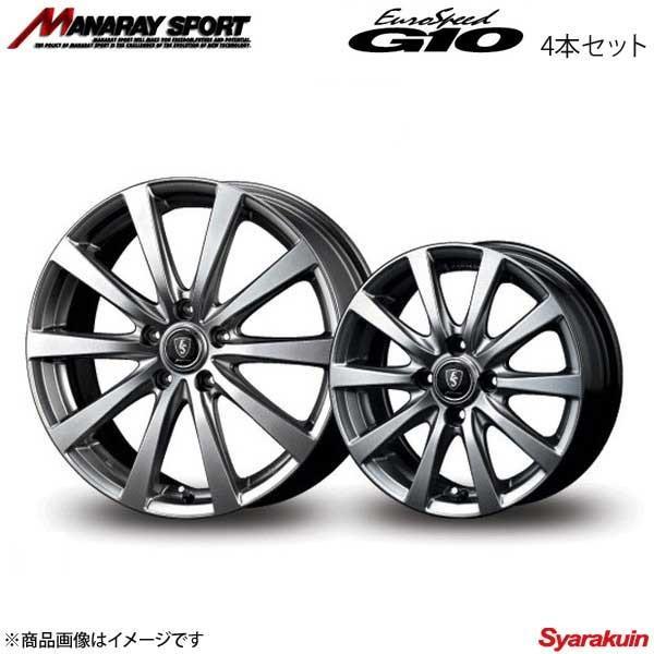 MANARAY SPORT/EuroSpeed G10 アルミホイール 4本セット ラッシュ 200系 【18×7.0J 5-114.3 INSET55 メタリックグレー】