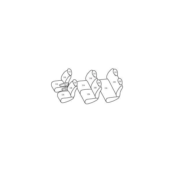 Bellezza/ベレッツァ シートカバー セレナ C24 カジュアル グレー|syarakuin-shop|02