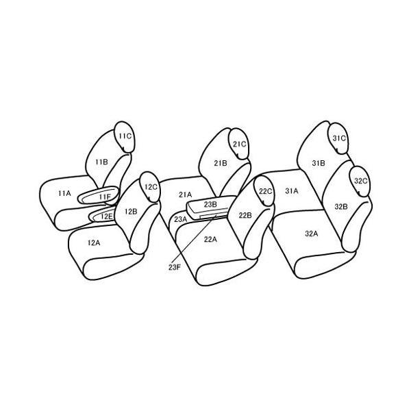 Bellezza ベレッツァ シートカバー ワイルドステッチDX セレナ C26/FC26/NC26/FNC26 H22/12〜H24/7 ライトグレー×ライトグレー|syarakuin-shop|02