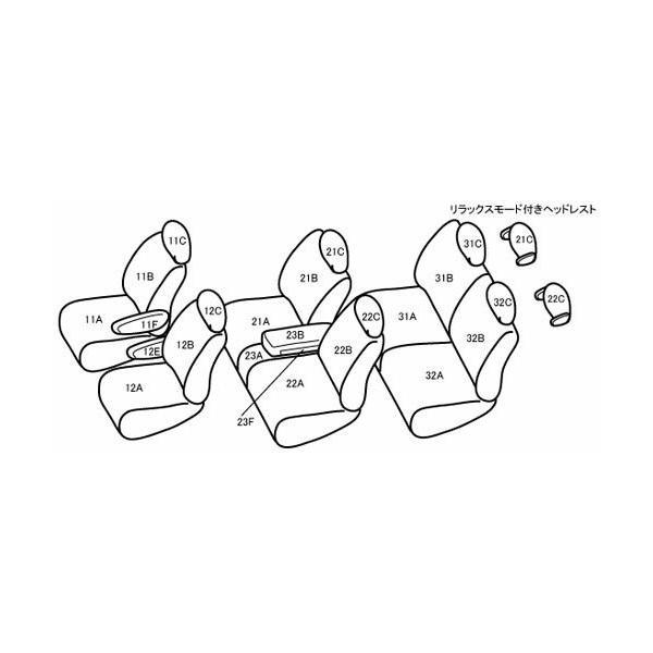 Bellezza シートカバー ワイルドステッチDX セレナ C26/HC26/NC26/HFC26/FNC26 H24/8〜H28/8 ライトベージュ(アイボリー)×ライトベージュ(アイボリー)|syarakuin-shop|02