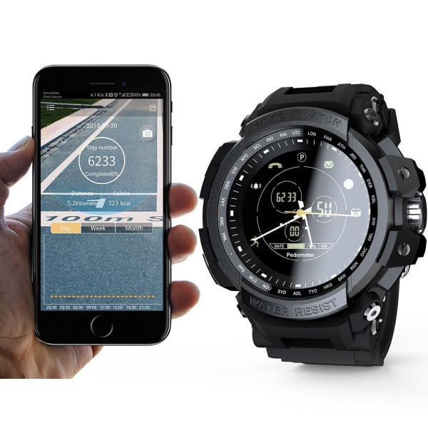 デジアナ Bluetooth スマート スポーツ ウオッチ 歩数計 カロリー消費 着信 SNS通知 5気圧防水 iOS Android対応 synergy2 02