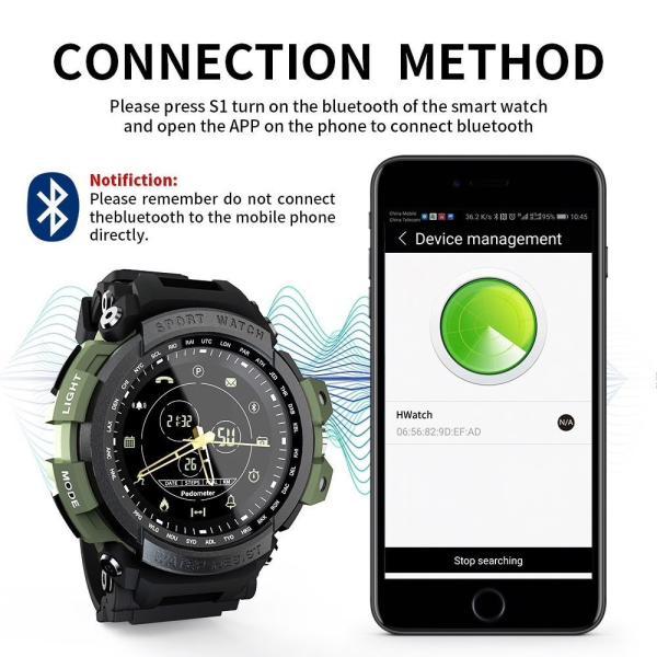 デジアナ Bluetooth スマート スポーツ ウオッチ 歩数計 カロリー消費 着信 SNS通知 5気圧防水 iOS Android対応 synergy2 03