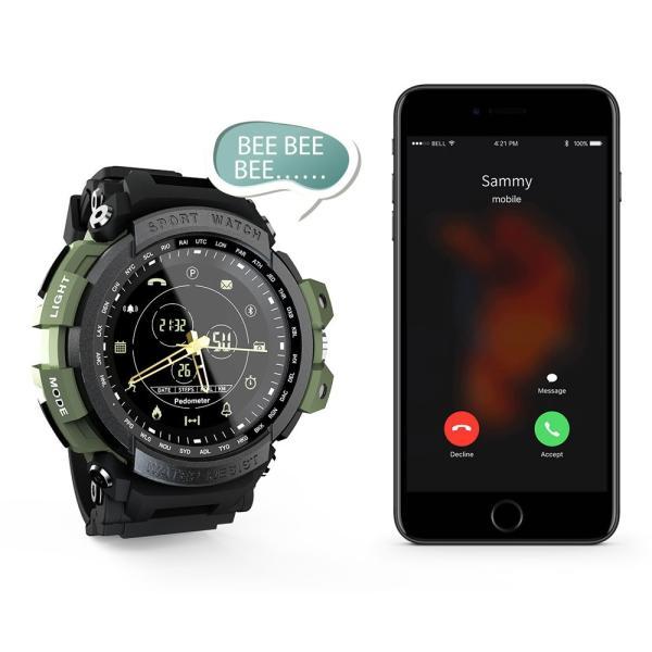 デジアナ Bluetooth スマート スポーツ ウオッチ 歩数計 カロリー消費 着信 SNS通知 5気圧防水 iOS Android対応 synergy2 05