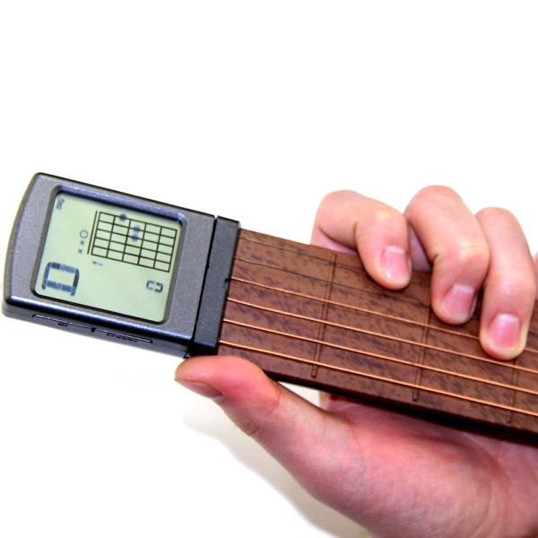 ポータブル ポケット 練習用 弦つき アコースティックギター 液晶画面 コード表示つき|synergy2|02