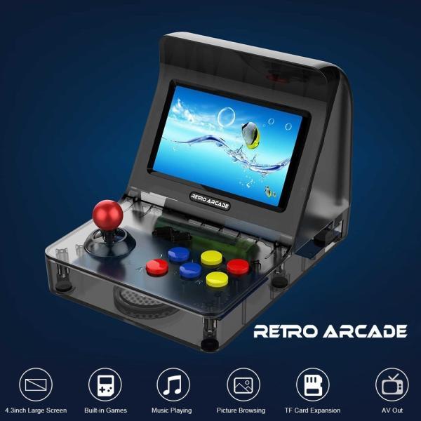レトロ ゲームコンソール エミュレーター 3000ゲーム内蔵 MP3プレーヤー synergy2