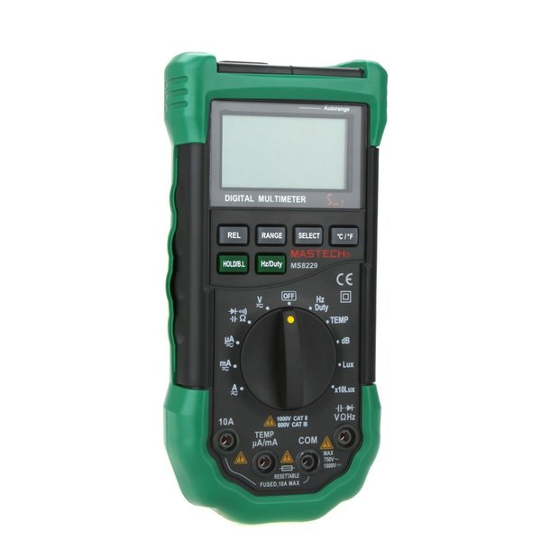 MASTECH MS8229 オートレンジデジタルマルチメーター( 温度計/湿度計/騒音計/照度計付)|synergy2|02