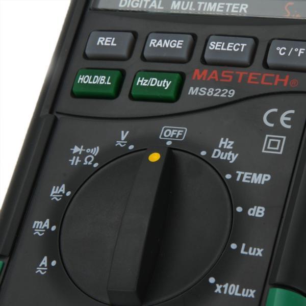MASTECH MS8229 オートレンジデジタルマルチメーター( 温度計/湿度計/騒音計/照度計付)|synergy2|04