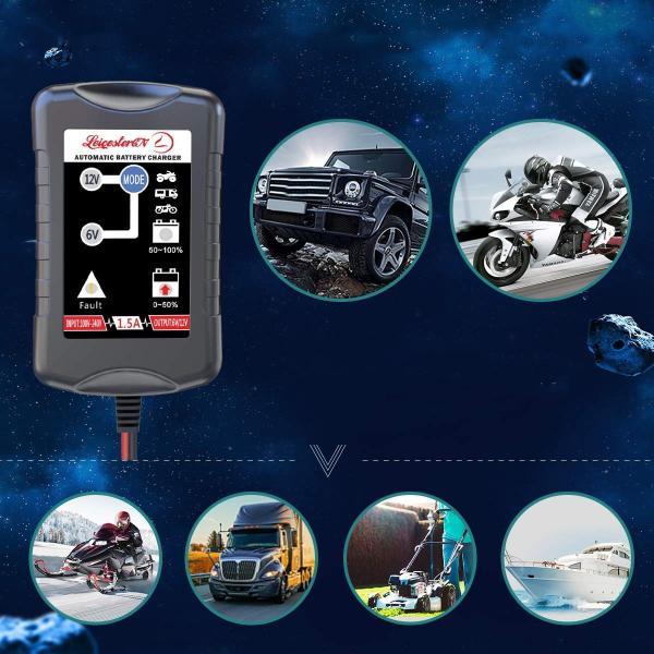 12V/6V 自動車 バイク 船舶 バッテリー 充電器 コンセント オートマチックバッテリーチャージャー|synergy2|07