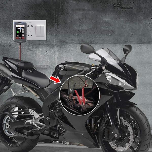 12V/6V 自動車 バイク 船舶 バッテリー 充電器 コンセント オートマチックバッテリーチャージャー|synergy2|08