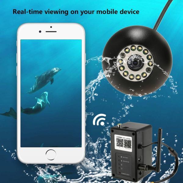 ワイヤレス Wi-Fi 水中魚群探知カメラ フィッシュファインダー   200m iOS Android対応 1000TVL 140°広角レンズ|synergy2|02