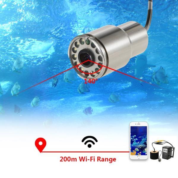 ワイヤレス Wi-Fi 水中魚群探知カメラ フィッシュファインダー   200m iOS Android対応 1000TVL 140°広角レンズ|synergy2|05