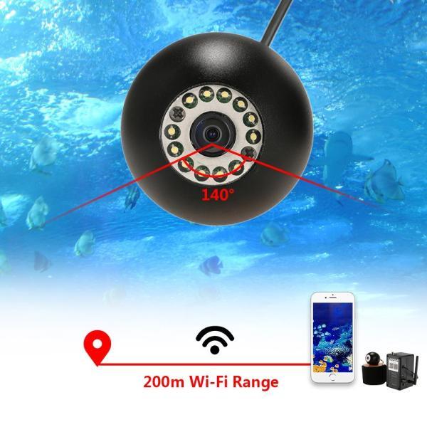 ワイヤレス Wi-Fi 水中魚群探知カメラ フィッシュファインダー   200m iOS Android対応 1000TVL 140°広角レンズ|synergy2|06