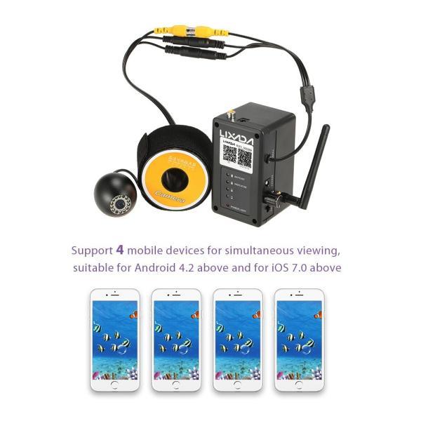 ワイヤレス Wi-Fi 水中魚群探知カメラ フィッシュファインダー   200m iOS Android対応 1000TVL 140°広角レンズ|synergy2|10