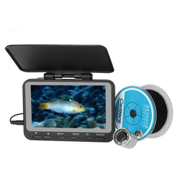 フィッシュファインダー 水中ビ デオカメラ 1000 TVライン 4.3インチ 液晶モニター 15m ケーブル 赤外線 LEDライト x 8|synergy2|02
