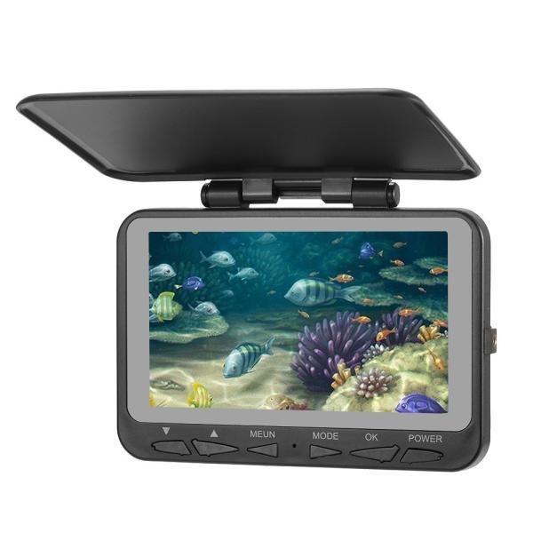 フィッシュファインダー 水中ビ デオカメラ 1000 TVライン 4.3インチ 液晶モニター 15m ケーブル 赤外線 LEDライト x 8|synergy2|03