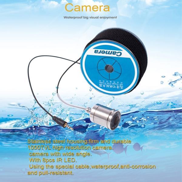 フィッシュファインダー 水中ビ デオカメラ 1000 TVライン 4.3インチ 液晶モニター 15m ケーブル 赤外線 LEDライト x 8|synergy2|04