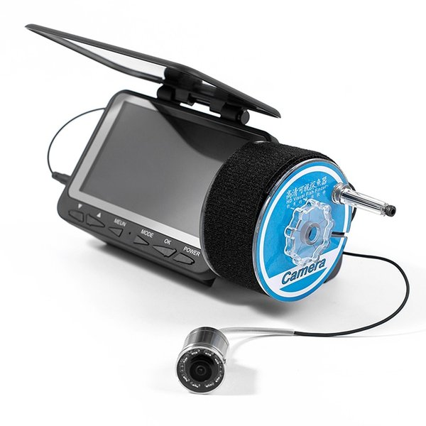 フィッシュファインダー 水中ビ デオカメラ 1000 TVライン 4.3インチ 液晶モニター 15m ケーブル 赤外線 LEDライト x 8|synergy2|06