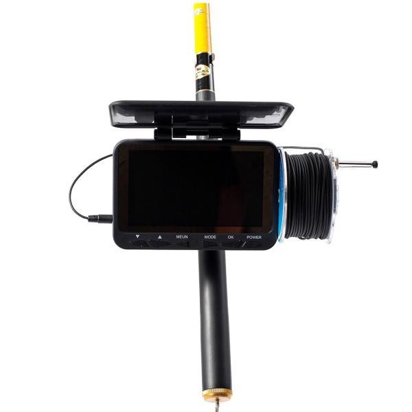 フィッシュファインダー 水中ビ デオカメラ 1000 TVライン 4.3インチ 液晶モニター 15m ケーブル 赤外線 LEDライト x 8|synergy2|09